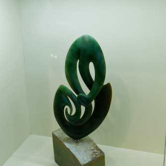 Maori symbolic form, in jade